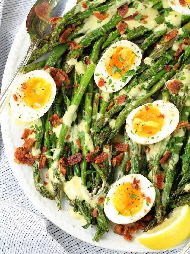 How to make Asparagus Egg Salad with Dijon Vinaigrette Image