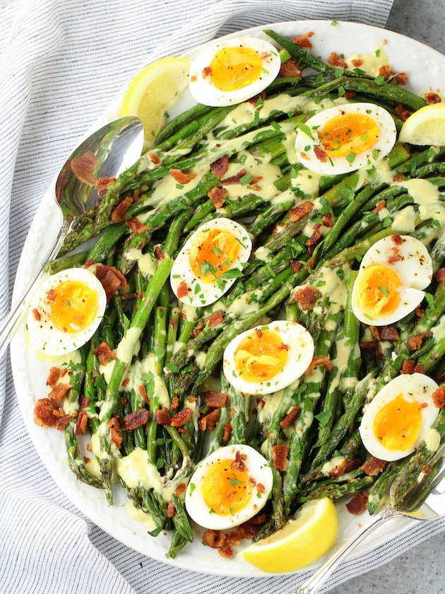 Asparagus Egg and Bacon Salad with Dijon Vinaigrette Image
