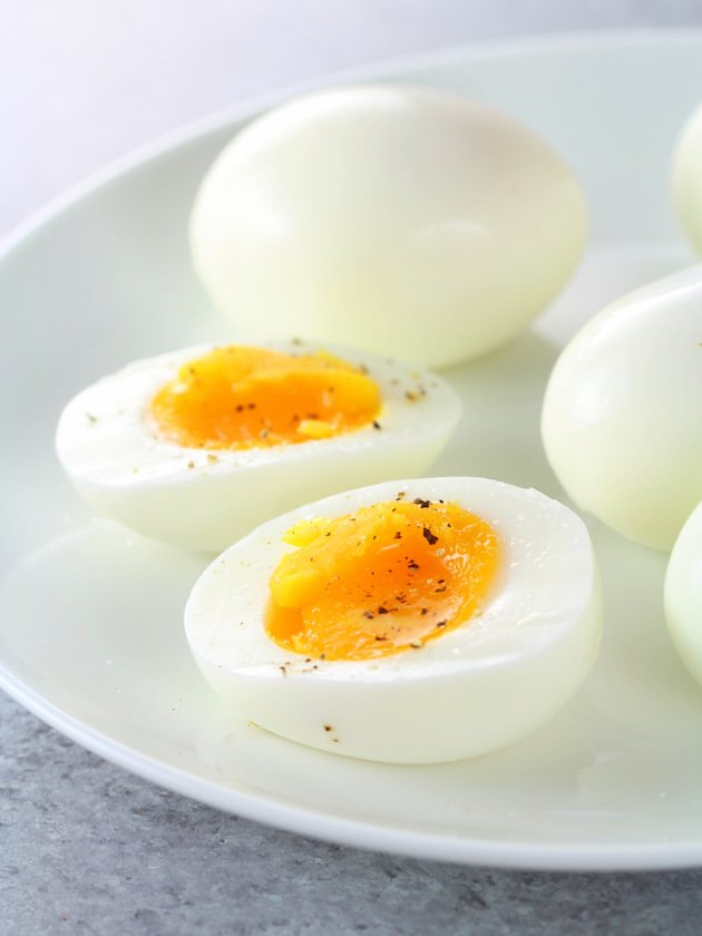 Asparagus Egg and Bacon Salad with Dijon Vinaigrette Image - Soft-Boiled Eggs