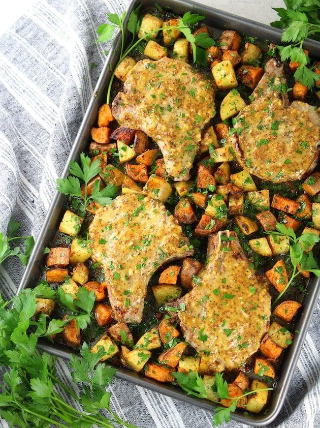 Baked Pork Chop Recipe with Honey Mustard Sauce Image