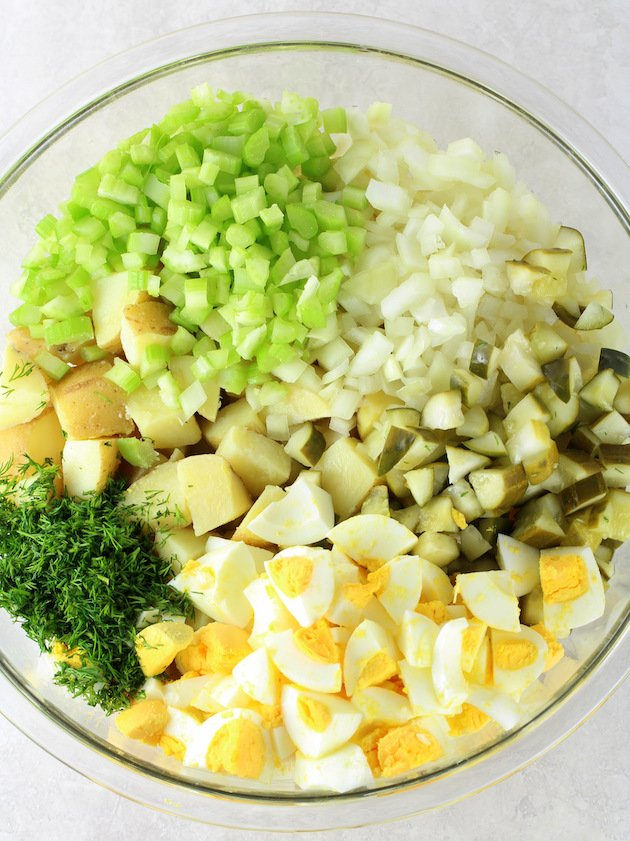 Instant pot potato salad ingredients