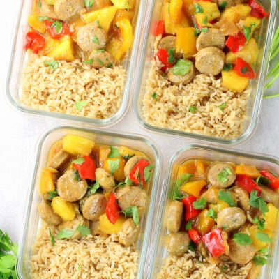 Pineapple Chicken Meal Prep Bowls