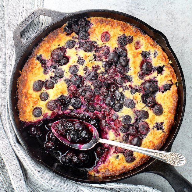 Cast-Iron Lemon Blueberry Cobbler