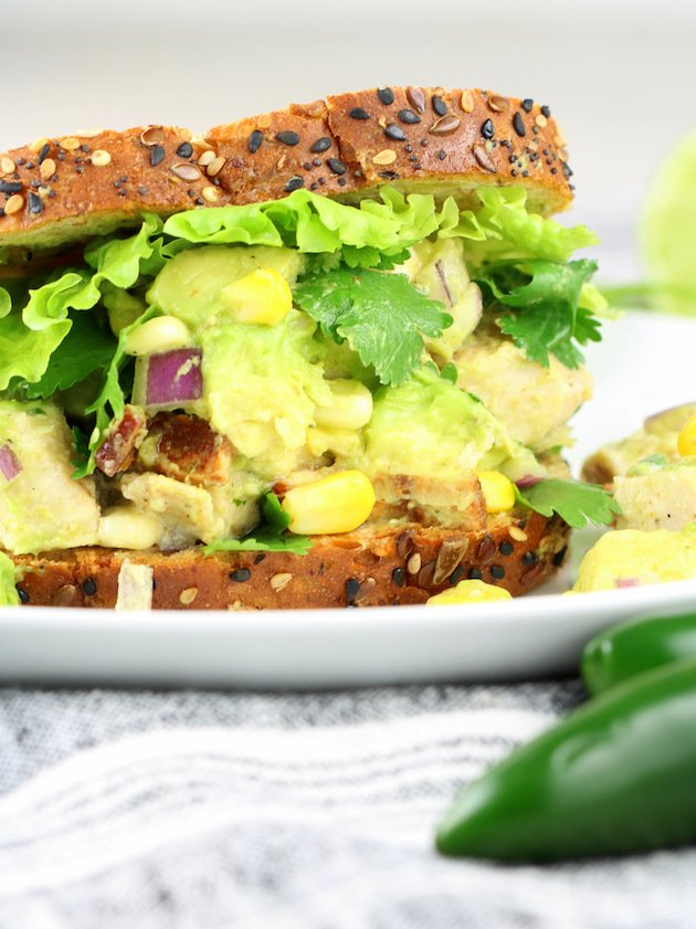 How to make a Southwest Avocado Chicken Salad Sandwich
