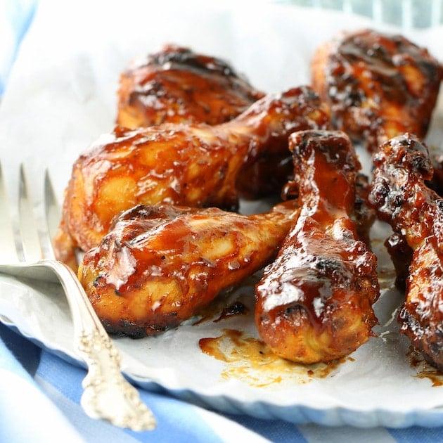 Grilled BBQ Chicken Drumsticks