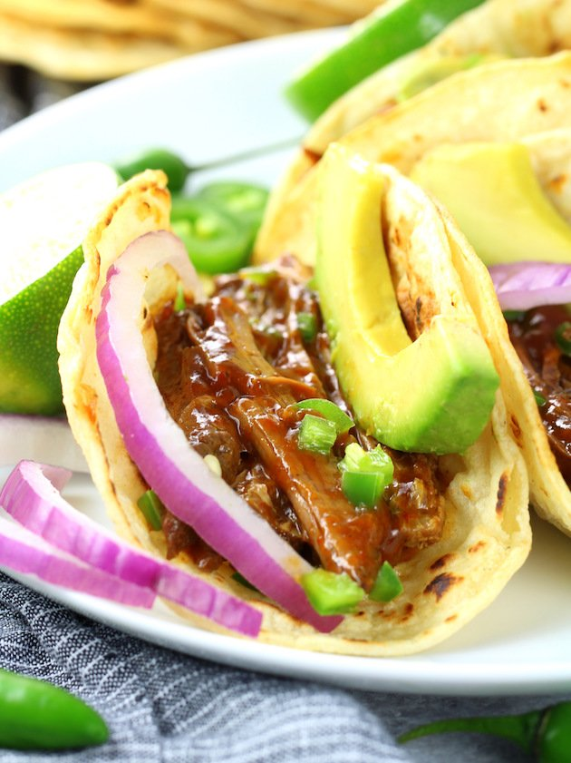 Mexican Beef Tacos Eye Level