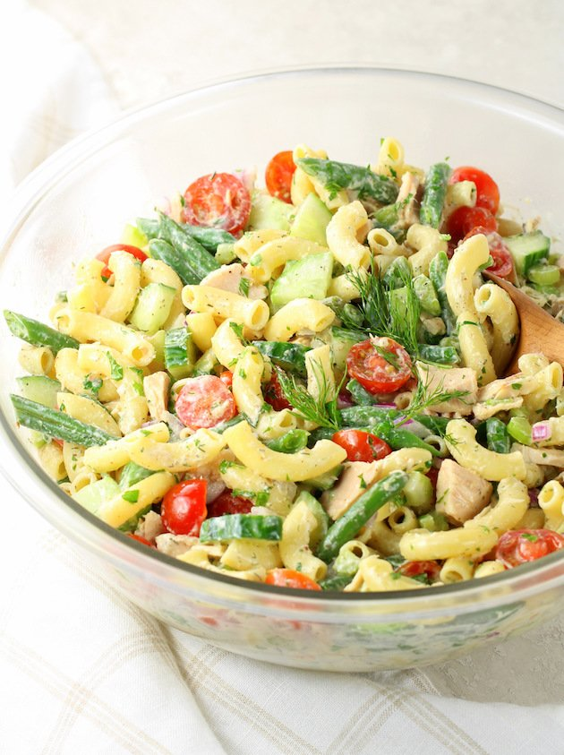 A bowl of Pasta Salad