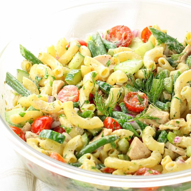 Tuna Pasta Salad with Green Beans