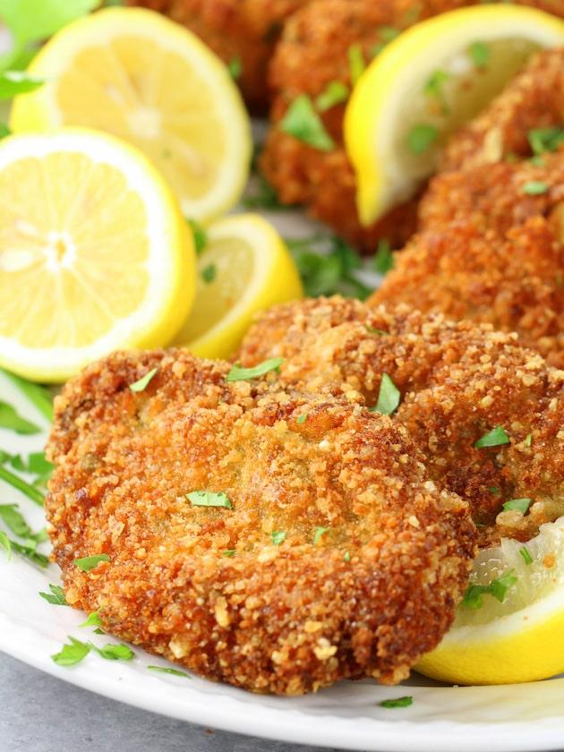 Crispy Veal with Lemon and Arugula