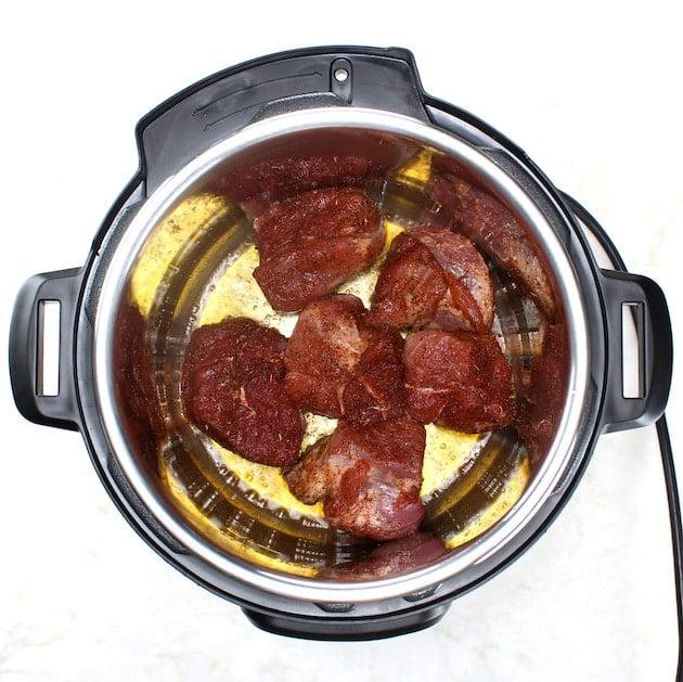 Searing pork shoulder roast in the instant pot