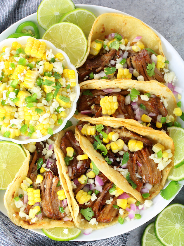 Pulled Pork Carnitas Tacos - Image and Recipe