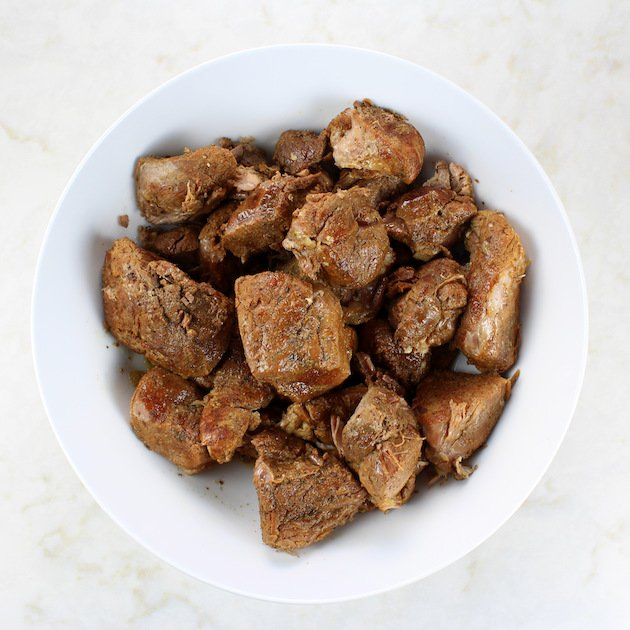 A plate of Pork Carnitas