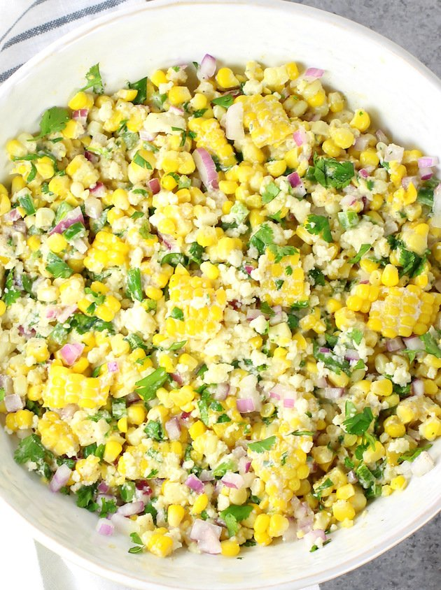 Mexican Street Corn Saladin Serving Bowl