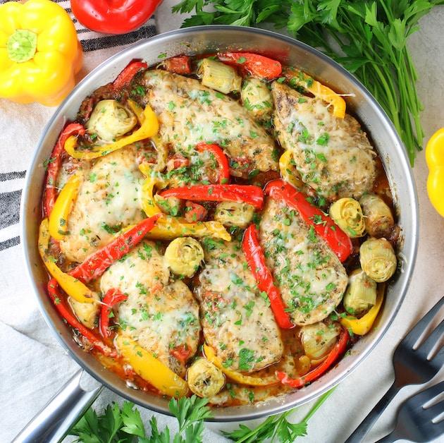 Cheesy Italian Chicken Skillet Recipe
