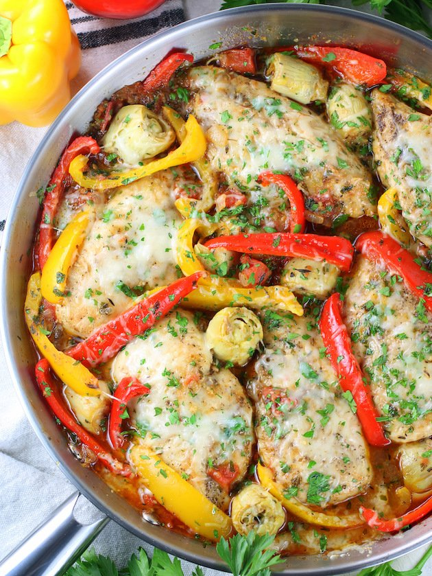 Cheesy Italian Chicken Skillet Gluten Free Taste And See