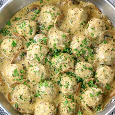 Creamy Parmesan Mushroom Turkey Meatballs