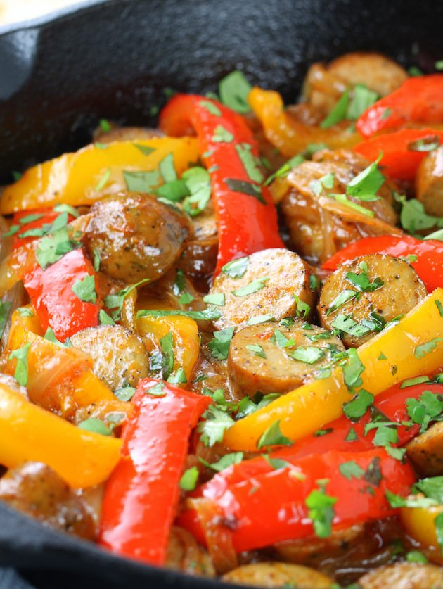 Easy Chicken Sausage Fajitas