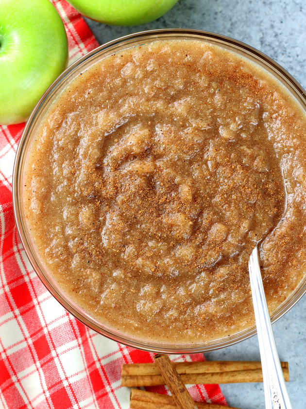 Easy Homemade Instant Pot Cinnamon Applesauce Recipe & Image