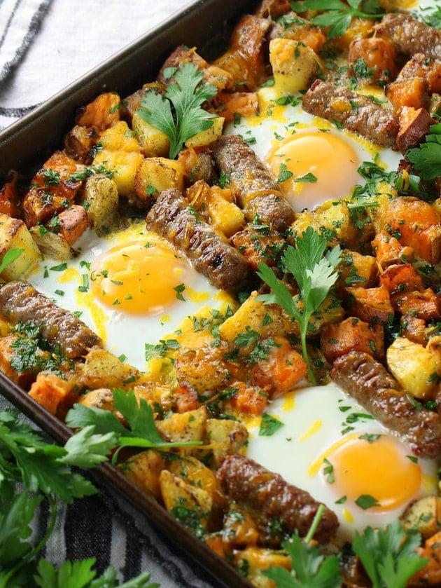 Turkey Sausage Breakfast Sheet Pan