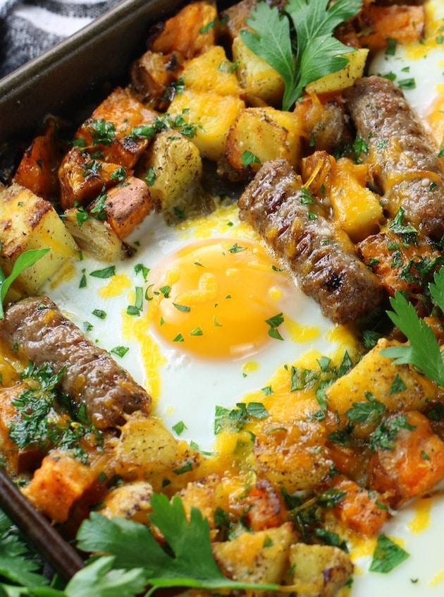 How to make Sweet Potato Turkey Sausage Breakfast Sheet Pan