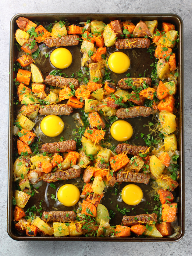 How to make breakfast sheet pan