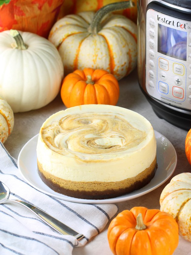 Instant Pot Marbled Pumpkin Cheesecake