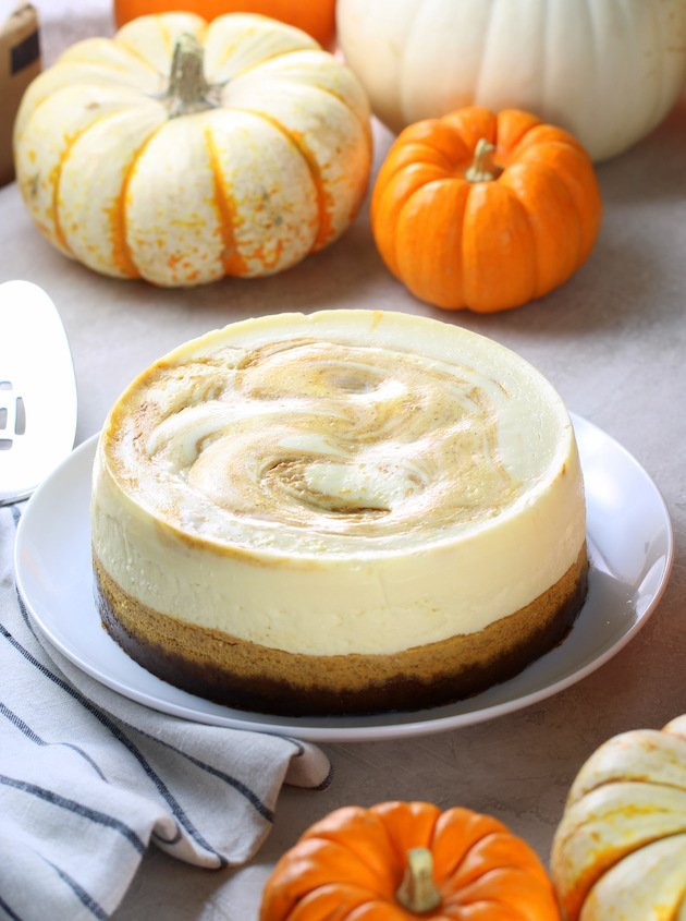 How To Make Instant Pot Marbled Pumpkin Cheesecake