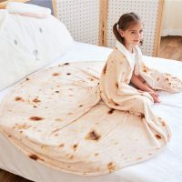 Giant Flour Tortilla Throw Blanket
