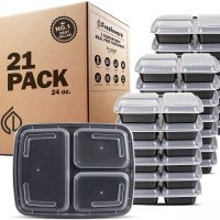 3 Compartment Meal Prep Containers with Lids - Bento Box