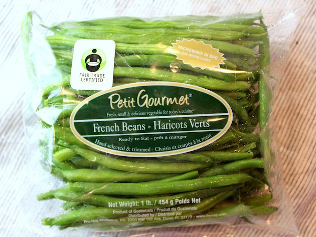 Garlic Green Beans - French Beans in their package.