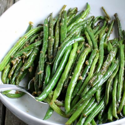 Easy Garlic French Green Beans