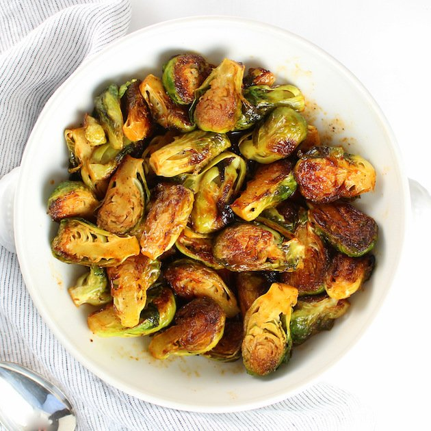 Bowl of brussels sprouts
