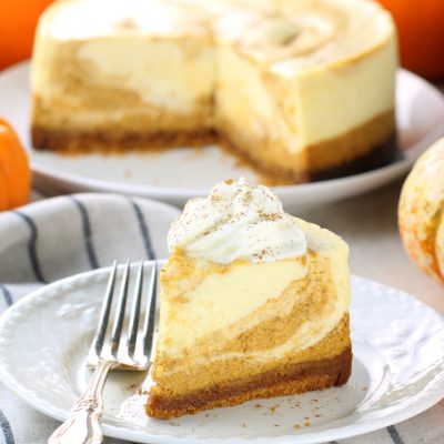 The Best Instant Pot Marbled Pumpkin Cheesecake Recipe!