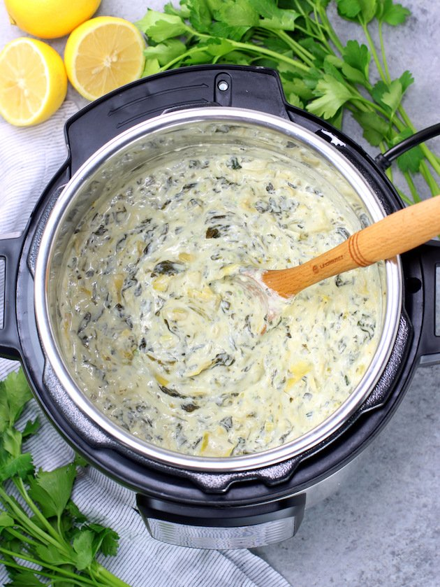 Easy Instant Pot Spinach Artichoke Dip