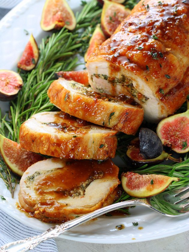 Oven Roasted Pork Loin with Balsamic Fig Sauce