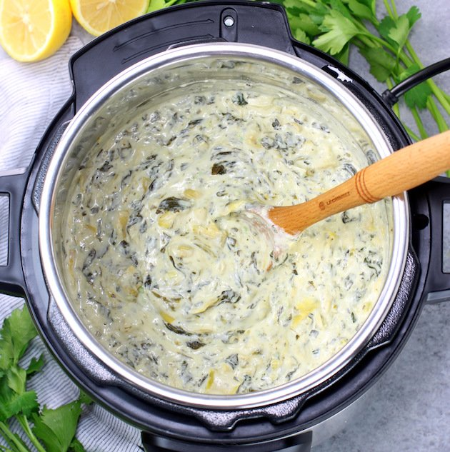 Easy Instant Pot Artichoke Spinach Dip