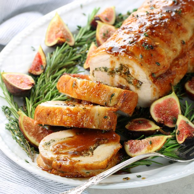 Oven Roasted Pork Loin Recipe with Balsamic Fig Sauce
