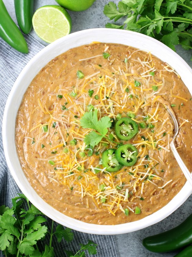 Instant Pot Refried Beans Recipe and Image