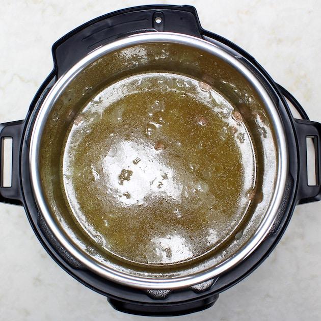 Stock simmering in instant pot