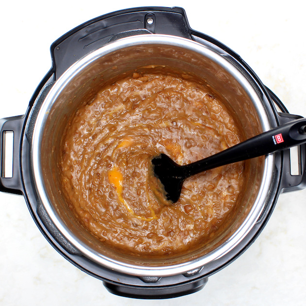 Making refried beans in an instant pot