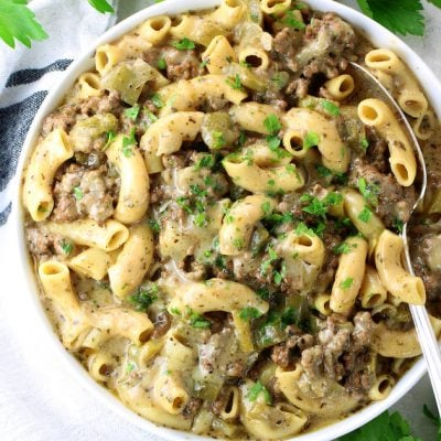 Instant Pot Philly Cheesesteak Pasta