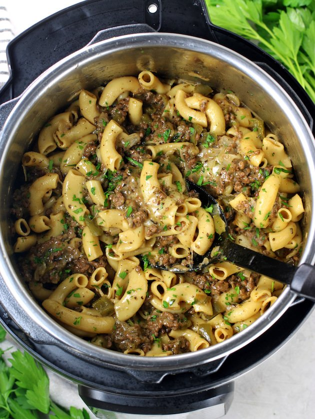 how to make philly cheesesteak pasta in the instant pot