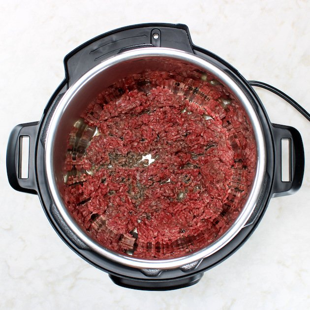 How to cook ground beef in an Instant Pot