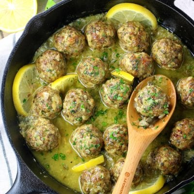Veal Piccata Baked Meatballs