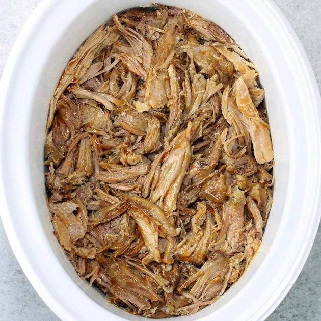 Make Ahead Slow Cooker Pulled Pork Shoulder