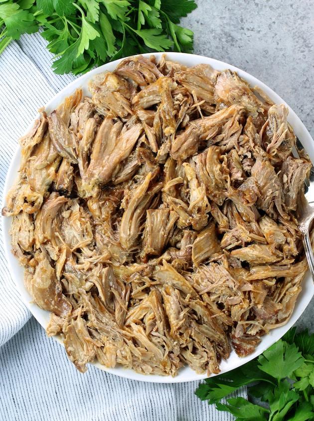 Meal Prep Slow Cooker Pulled Pork Shoulder Recipe & Image