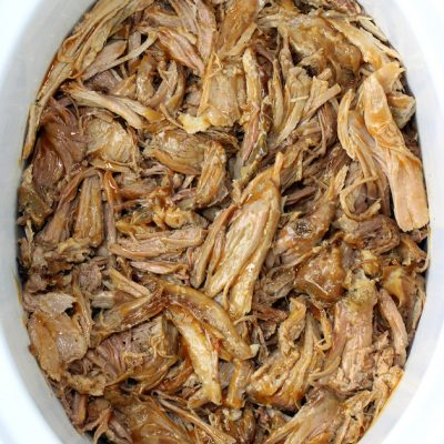 Meal Prep Slow Cooker Pulled Pork Shoulder