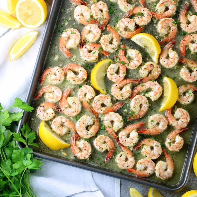 Sheet Pan Lemon Pepper Shrimp (Low Carb)