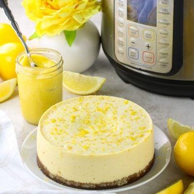 Instant Pot Lemon Cheesecake