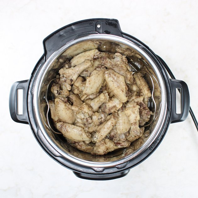 Chicken wings in instant pot after cooking